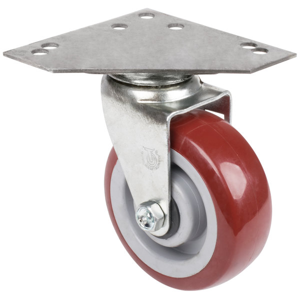 "5"" Swivel Caster with Large Caster Plate Main Image 1"