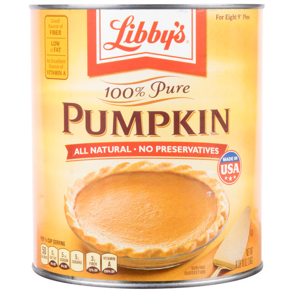 Libby's 100% Pure Canned Pumpkin #10 Can