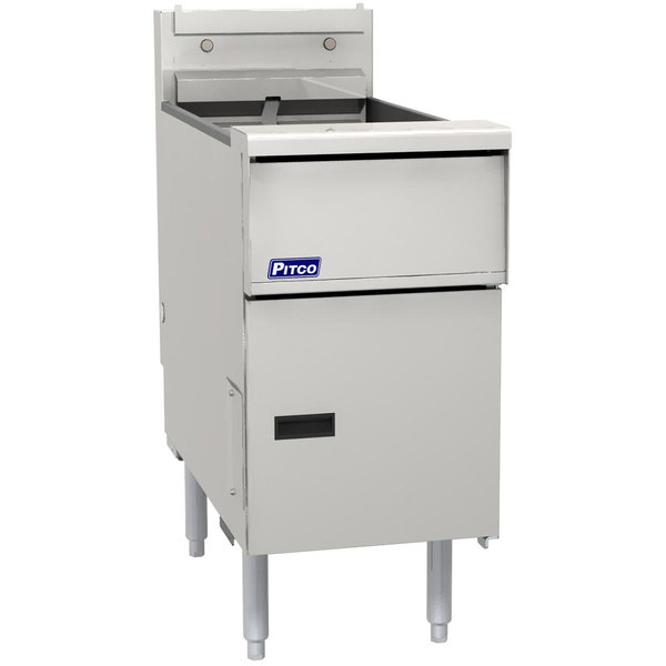 Pitco SE148-SSTC Solstice 60 lb. Electric Floor Fryer with Solid State Controls - 240V, 3 Phase, 17kW