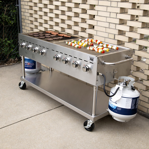 "Backyard Pro C3H860 60"" Stainless Steel Liquid Propane Outdoor Grill Main Image 3"