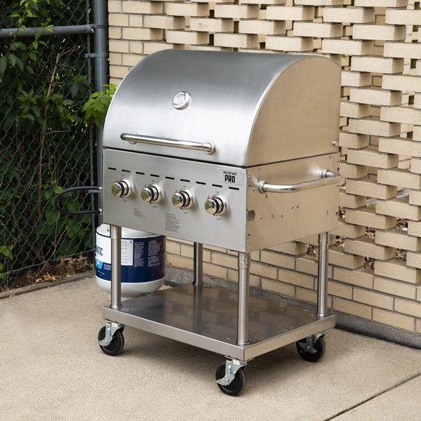 """Backyard Pro C3H830DEL Deluxe 30"""" Stainless Steel Outdoor Grill with Roll Dome and Cover"""