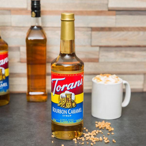 Torani 750 mL Bourbon Caramel Flavoring Syrup