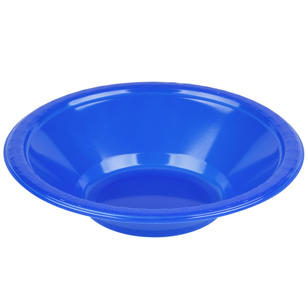 Creative Converting 28314751 12 oz. Cobalt Blue Plastic Bowl - 240/Case