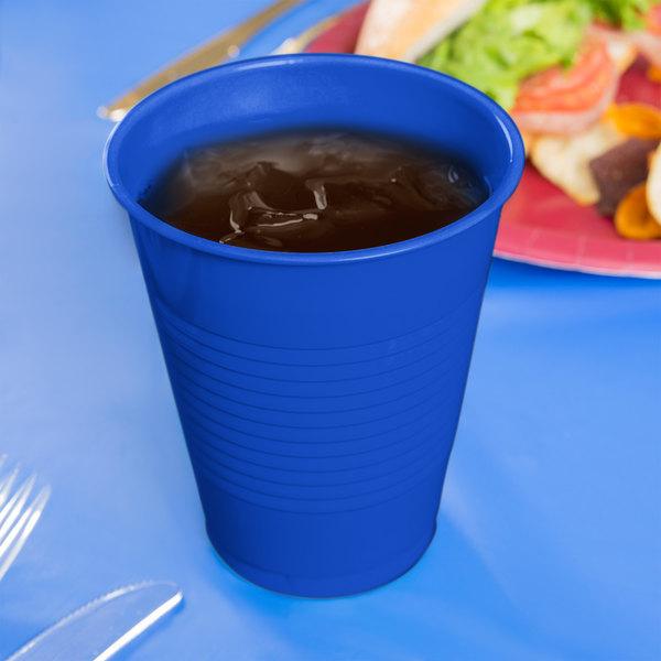 Creative Converting 28314781 16 oz. Cobalt Blue Plastic Cup - 240/Case