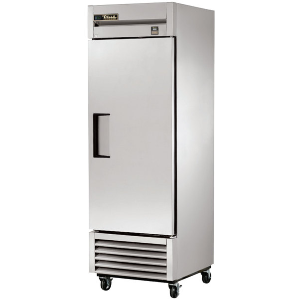 "True TS-23F-HC 27"" Stainless Steel One Section Solid Door Reach-In Freezer"
