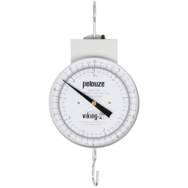 Rubbermaid FG007842000000 Pelouze 20 lb. Hanging Scale with Tare - Dial Type