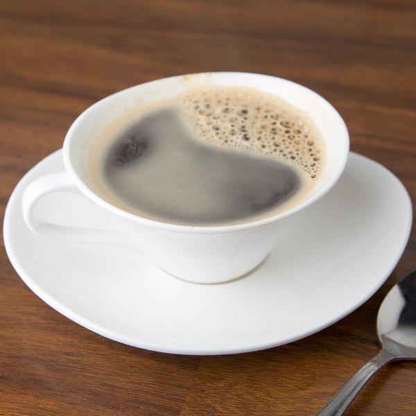 10 Strawberry Street B4519B4520 Izabel Lam Pond 6 oz. White Bone China Cappuccino Cup and Saucer Set - 18/Case Main Image 3