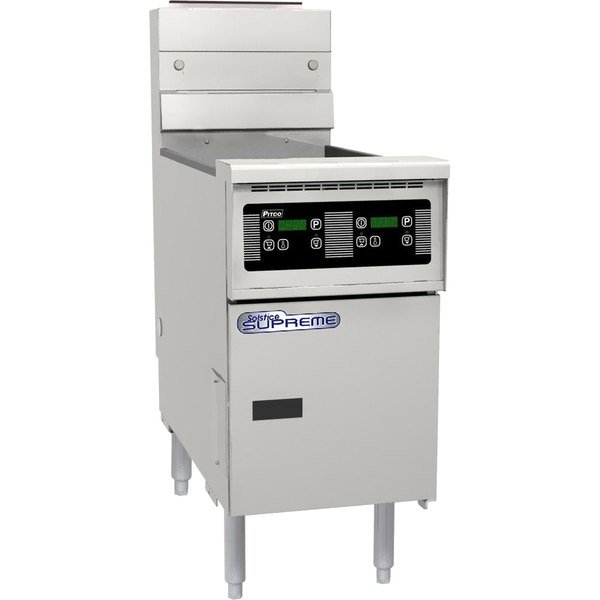 Pitco® SSH60R-D Solofilter Solstice Supreme Natural Gas 50-60 lb. Floor Fryer with Digital Controls - 100,000 BTU