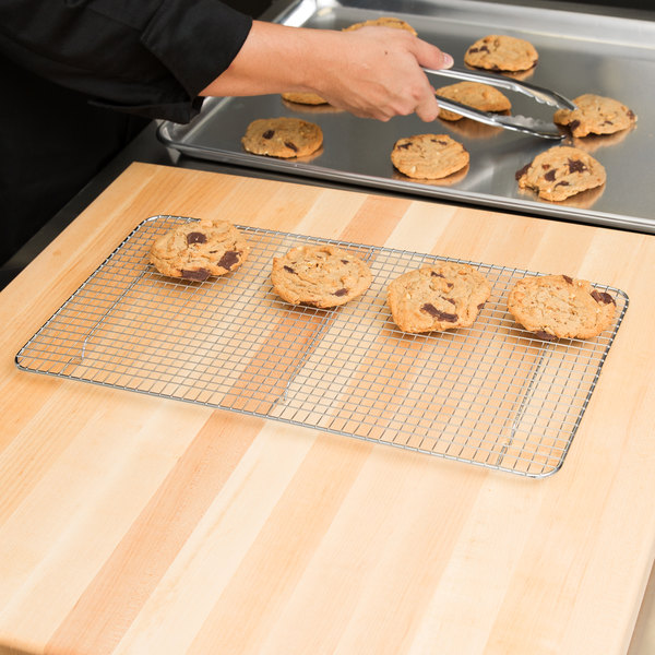 """Footed Cooling Rack / Pan Grate for Steam Table Pan - 10 1/8"""" x 18"""""""