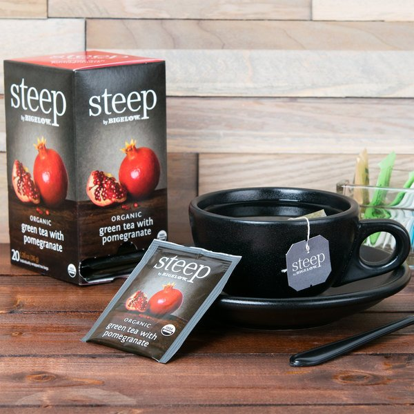 Steep By Bigelow Organic Green Tea with Pomegranate Tea Bags - 20/Box Main Image 6