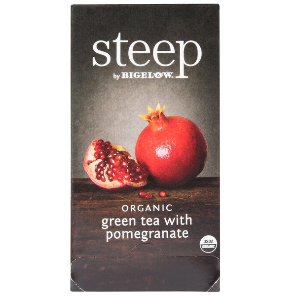 Steep By Bigelow Organic Green Tea with Pomegranate - 20/Box