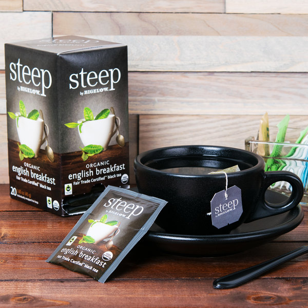 Steep By Bigelow Organic English Breakfast Tea Bags - 20/Box Main Image 6