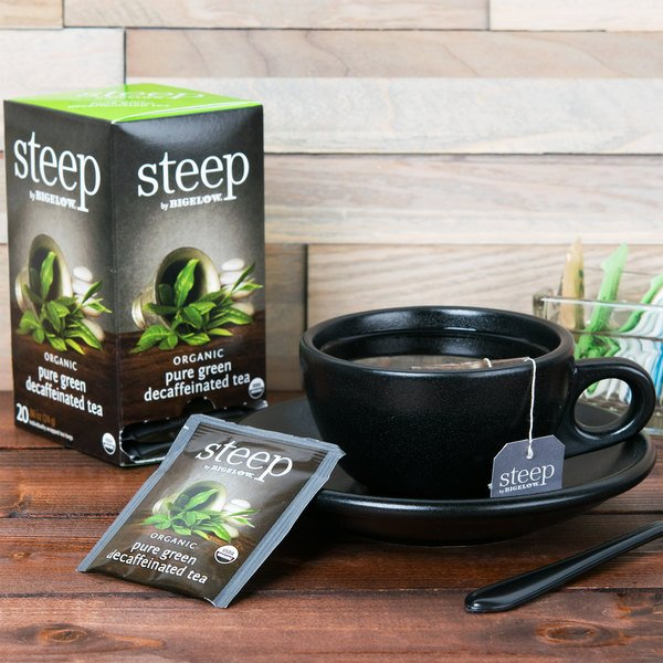 Steep By Bigelow Organic Pure Green Decaffeinated Tea - 20/Box