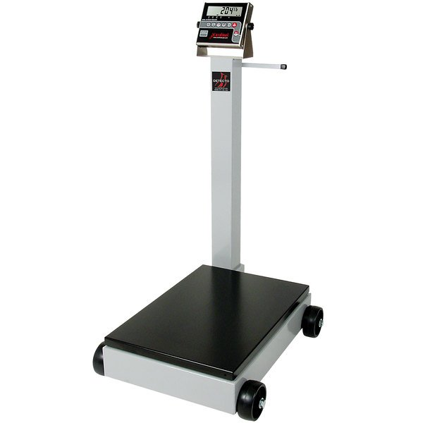 Cardinal Detecto 5852F-210 500 lb. Portable Digital Floor Scale with 210 Indicator, Legal for Trade