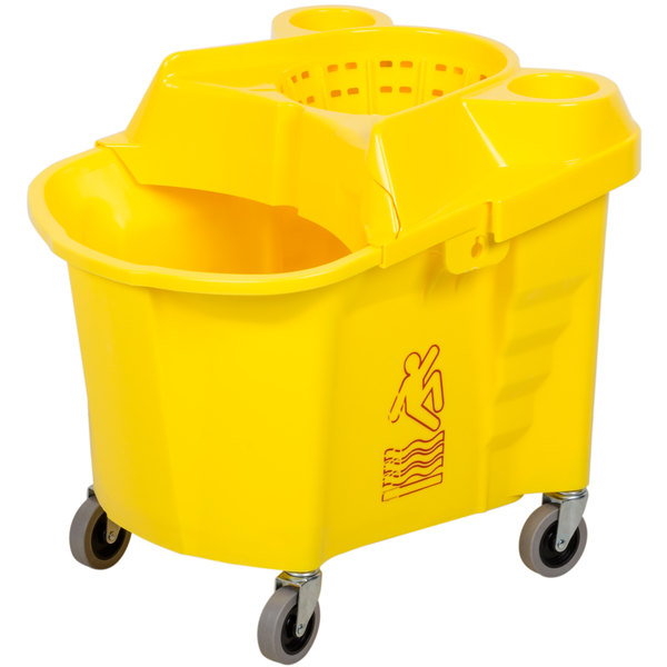 Continental 335-39YW 35 Qt. Institutional Mop Bucket with Wringer