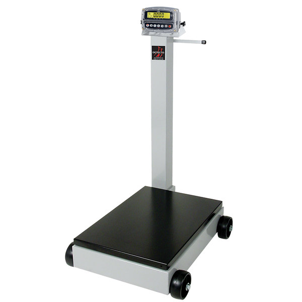 Cardinal Detecto 8852F-190 1000 lb. / 440 kg. Portable Digital Floor Scale with 190 Indicator and Tower Display, Legal for Trade