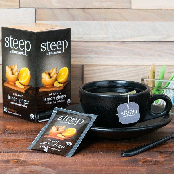 Steep By Bigelow Organic Lemon Ginger Herbal Tea - 20/Box