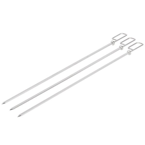 "Rational 60.72.420 3/8"" Flat Metal Fish Skewer - 3/Pack"