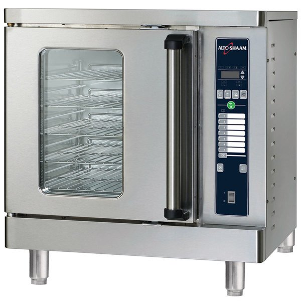 Alto-Shaam ASC-2E/E Platinum Series Half Size Electric Convection Oven with Electronic Controls - 240V, 3 Phase, 5000W