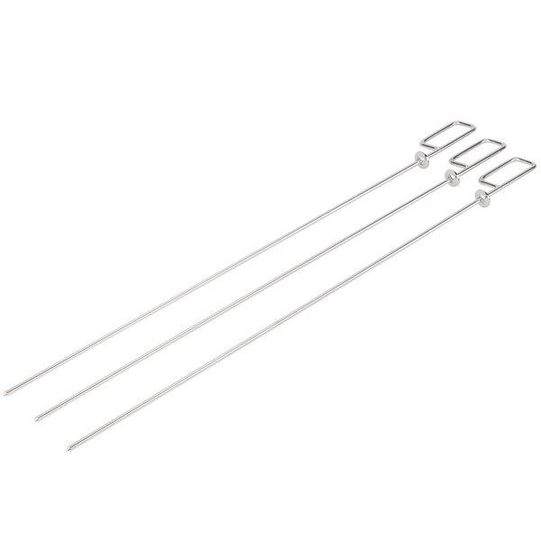 """Rational 60.72.416 1/4"""" Round Metal Skewer - 3/Pack"""