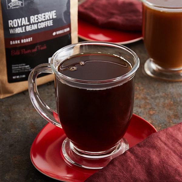 Crown Beverages 2 lb. Royal Reserve Dark Roast Whole Bean Coffee - 5/Case