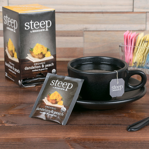 Steep By Bigelow Organic Dandelion and Peach Tea - 20/Box