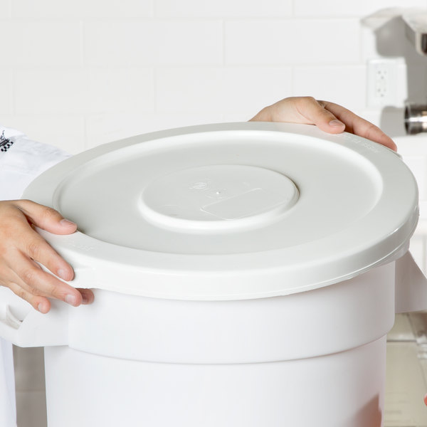 Continental 1002WH Huskee 10 Gallon White Trash Can Lid