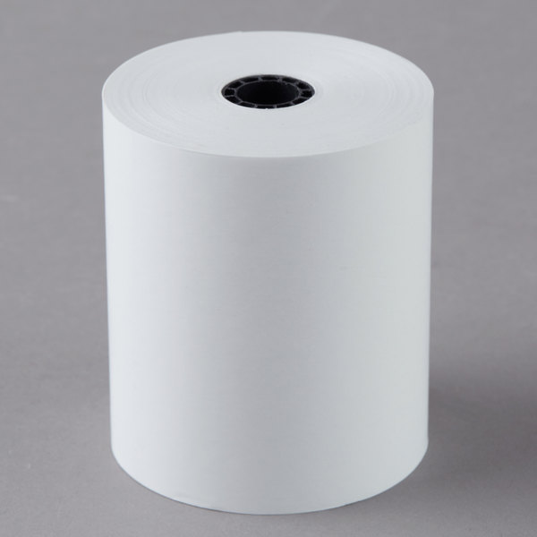 "Point Plus 3 1/8"" x 220' Thermal Cash Register POS Paper Roll Tape with Countertop Carton - 24/Case Main Image 1"