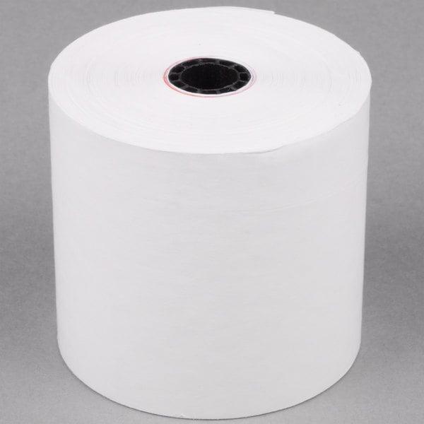 "2 3/4"" x 190' Traditional Bond Cash Register POS Paper Roll Tape - 50/Case"