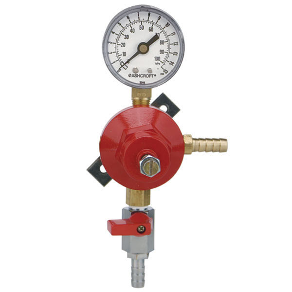 Micro Matic 8011-15 Economy Series Single Gauge (15 PSI) Secondary CO2 Low-Pressure Regulator