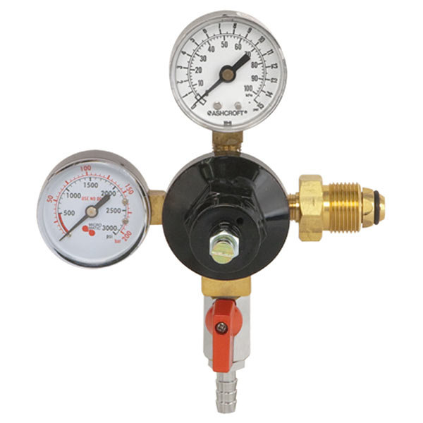 Micro Matic 842N-15 Economy Series Double Gauge (15 PSI) Primary Nitrogen Low-Pressure Regulator