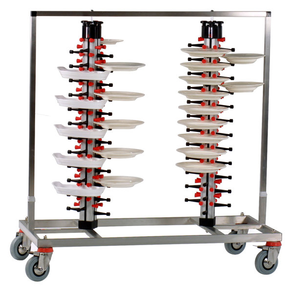 "Plate Mate PM96-160 Twin Mobile Plate Rack Holds 96 Plates 49 1/2""H Main Image 1"