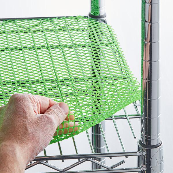 2' x 40' Green Plastic Mesh Bar Mat / Shelf Liner Main Image 3
