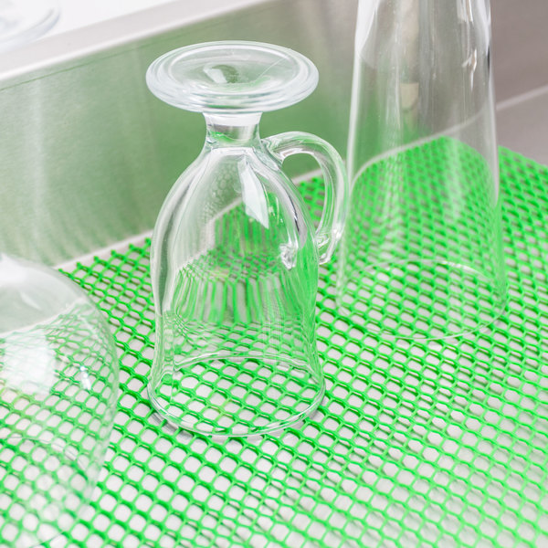 2' Green Plastic Mesh Bar Mat / Shelf Liner Main Image 6