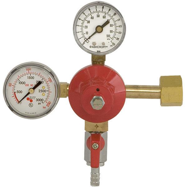 Micro Matic 842-15 Economy Series Double Gauge (15 PSI) Primary CO2 Low-Pressure Regulator