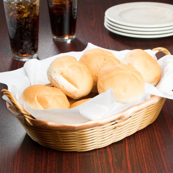 """12"""" x 9"""" x 3"""" Oval Wicker Bread Basket Main Image 8"""