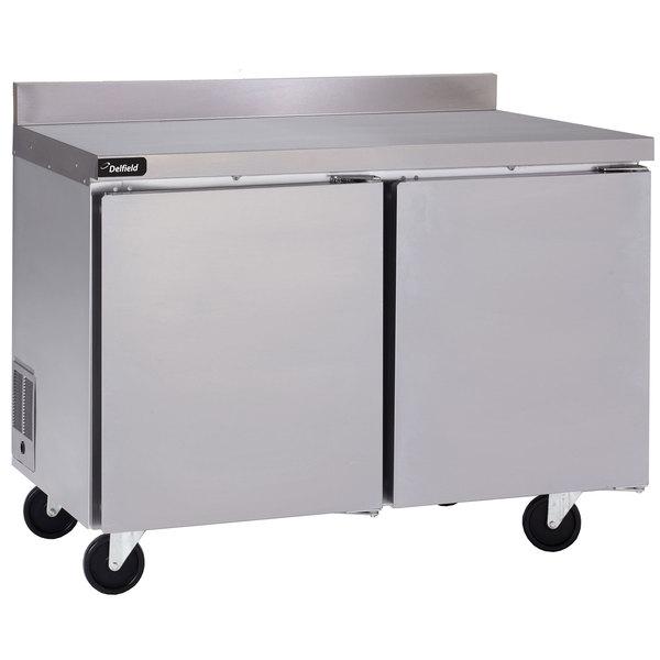 Delfield GUF48BP-S 48 inch Two Door Worktop Freezer with Backsplash