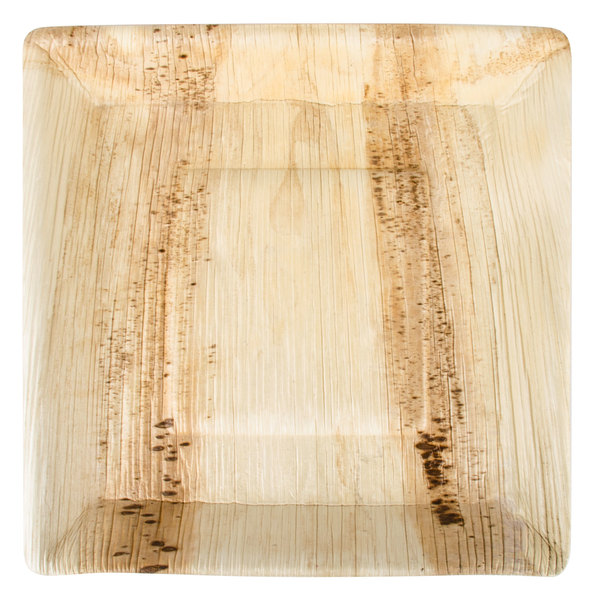 "Salone Tray Surreal And Unconventional: TreeVive By EcoChoice 10"" Square Angled Rim Palm Leaf"