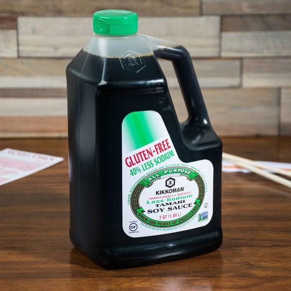 Kikkoman Less Sodium Gluten Free Tamari Soy Sauce .5 Gallon Container - 6/Case Main Image 2