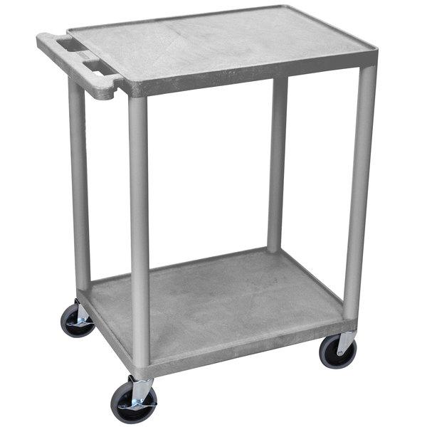 Luxor HE32-GY Gray 2 Shelf Utility Cart Main Image 1