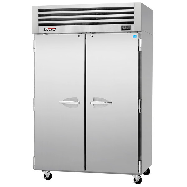 """Turbo Air PRO-50R 52"""" Premiere Pro Series Two Section Solid Door Reach in Refrigerator - 49 Cu. Ft."""