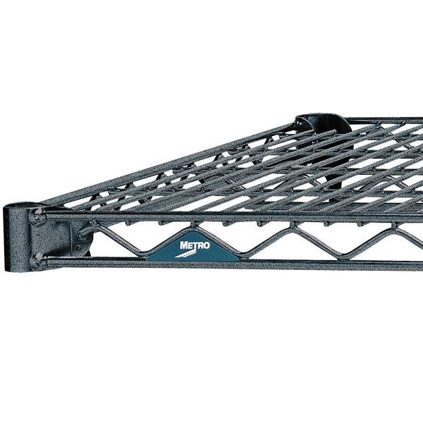 "Metro 1448N-DSH Super Erecta Silver Hammertone Wire Shelf - 14"" x 48"""