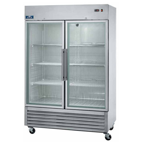 "Arctic Air AGR49 54"" Two Section Glass Door Reach-In Refrigerator - 49 cu. ft."