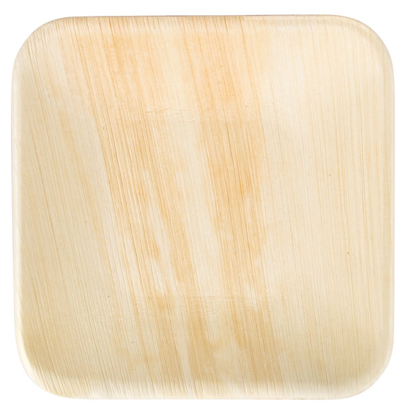 TreeVive by EcoChoice 6 inch Square Palm Leaf Plate - 25/Pack
