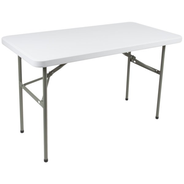 "24"" x 48"" heavy duty folding plastic granite white table commercial"