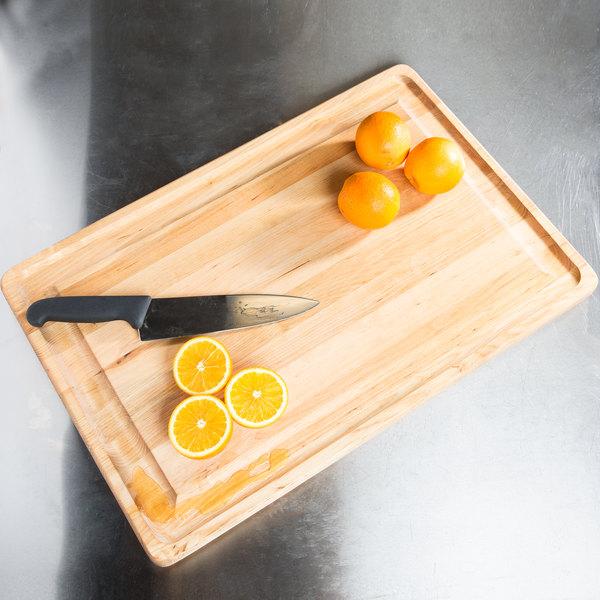 "Tablecraft CBW241615 24"" x 16"" x 1 1/4"" Wood Grooved Cutting Board Main Image 7"