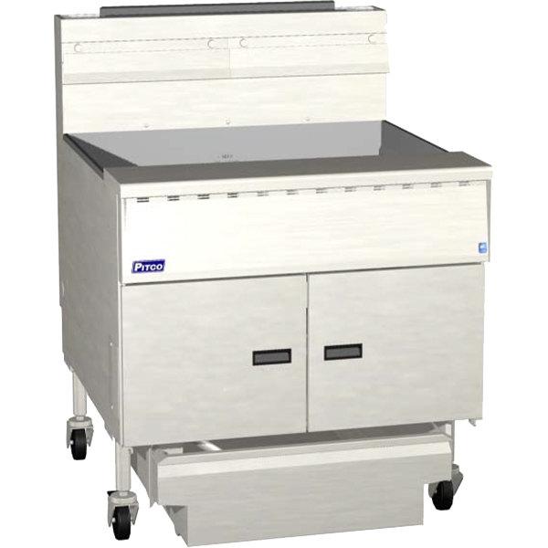Pitco® SGM34-C MegaFry Natural Gas 200-210 lb. Floor Fryer with Intellifry Computer Controls - 210,000 BTU