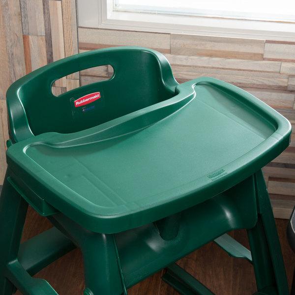Rubbermaid FG781588DGRN Green Restaurant High Chair Tray
