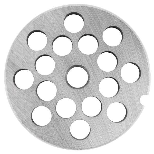 """Globe L00773 Equivalent #12 Meat Grinder Plate - 3/8"""""""