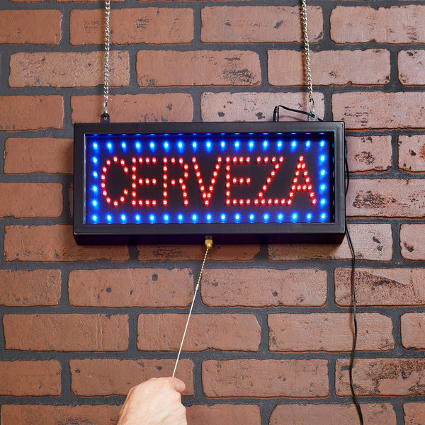 Aarco CER07S Cerveza Beer LED Sign